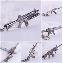 Free-shipping-AK47-Fashion-Cross-Fire-CF-Cool-Classic-Weapon-Model-Zinc-Alloy-Metal-Pendant-Key