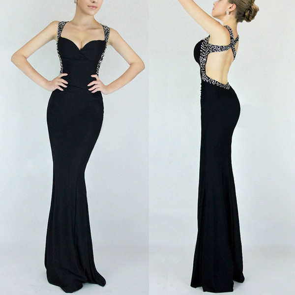 Shipping Free Summer Dress 2014 Latest Black Royal Blue Red Special Occasion Gown Abendkleider Long Formal Prom Evening Dresses