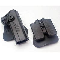 Retention Roto Holster 1911 and Double Magazine Gun Holster Polymer holster Fits Colt 1911 M1911