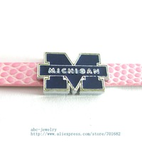 Multiple options! sport team SL326 Internal Dia.8mm slide Charms Jewelry Finding fit 8mm wristband pet collar key chain