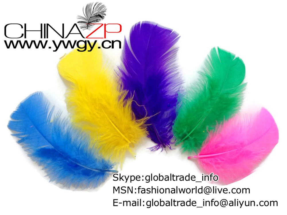 Wholesale Turkey Feathers, 1 4 lbs - BRIGHT MIX Turkey T-Base Plumage Wholesale Feathers (bulk)  1481