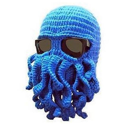 new-handmade-woolen-octopus-beard-funny-winter-hats-caps-crochet-beanies-gift-unisex-knits-7-colors