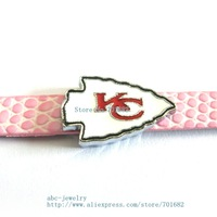 Multiple options! SL324 Internal Dia. 8mm sport team slide Charms Jewelry Finding fit 8mm wristband pet collar key chain