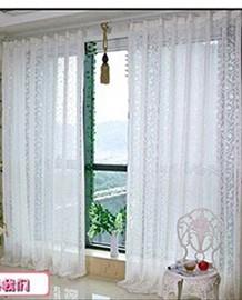 Window-screening-flock-printing-curtain-window-screening-white-velvet-flock-printing-free-shipping