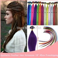 1000PCS-Feather-Extension-For-Hair-Straight-Grizzly-Feather-Hair-Japan-High-Temperation-Fiber-18-45cm-Lady