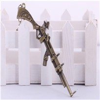 1PCS-League-of-Legend-The-Sheriff-of-Piltover-Caitlyn-s-Rifle-Gun-Keychain-12cm-Metal-Pendant