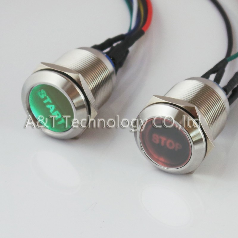 22 double led Red-stop green-start button 1
