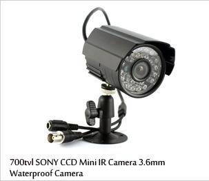 700tvl sony ccd waterproof cctv camera