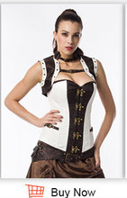 Corzzet Gothic Steampunk Faux Leather Underbust Corsets