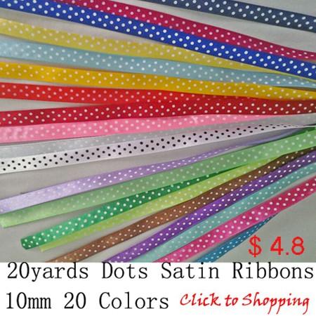 20yards dots 1cm ribbon