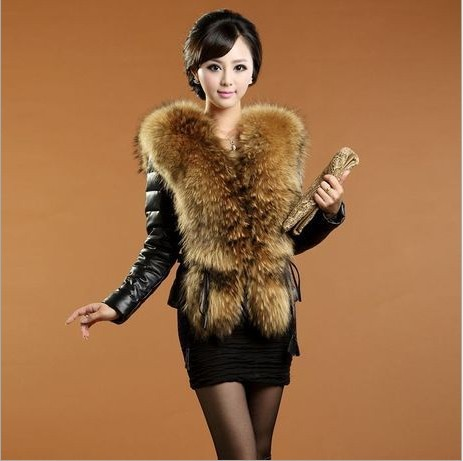 Free-shipping-2014-Top-Fasion-Button-Solid-Short-Design-Female-Fox-Fur-Vest-Leather-Outerwear-Plus