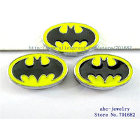 zinc alloy 10pcs batman Internal Dia.8mm slide Charms can through 8mm Wristband pet collar