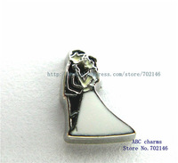 Christmas gift Free Shipping wholesale  New Style 10pcs Romantic Wedding Floating locket Charms FC1007 Fit Glass Floating Locket