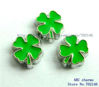 Free Shipping New Style  10pcs Clover Floating Charm Fit Living Memory Floating charms locket FC101-2