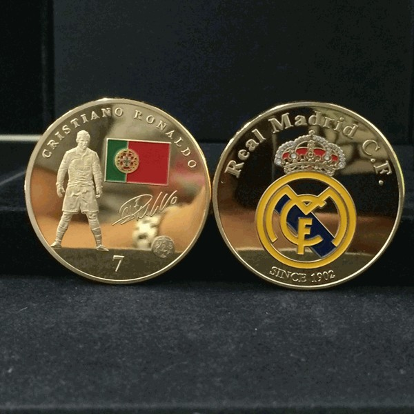 football star coin messi coin ronaldo barcelona madrid coin (4)
