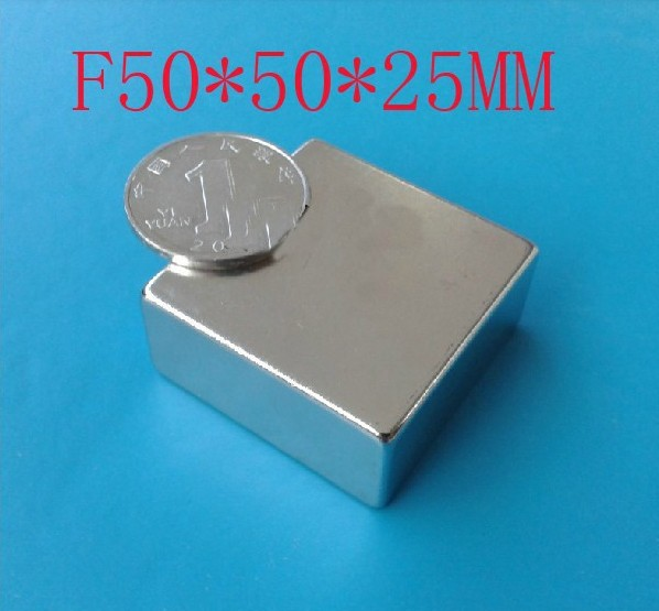 50*50*25_1 wholesale 50mm x 50mm x 25mm magnets 1pcs/pack, super strong powerful ndfeb magnet neodymium 50*50*25mm n50
