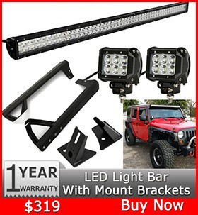 300W LED work light bar