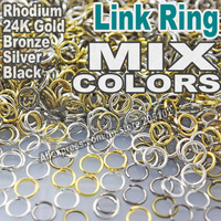 Mix Colors 3 4 5 6 7 8 9 10 12mm Open Jump Split Ring Link Silver Gold Rhodium Black Bronze for DIY Jewelry Findings Connectors