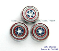 FC718 Free Shipping New Style 10pcs Captain America Floating Locket Charms Fit Living Memory Floating Memory locket