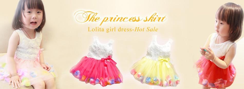 girl flower hem dress