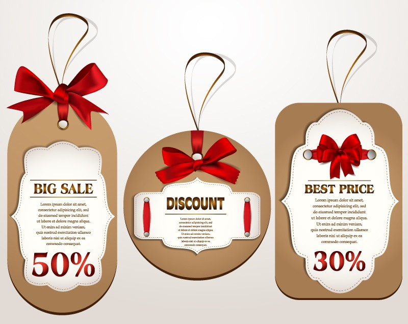 Bow-Discount-Tag-Vector
