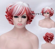 New-design-Sexy-short-white-pink-curly-wig-with-bang-women-hair-full-wig-synthetic-no