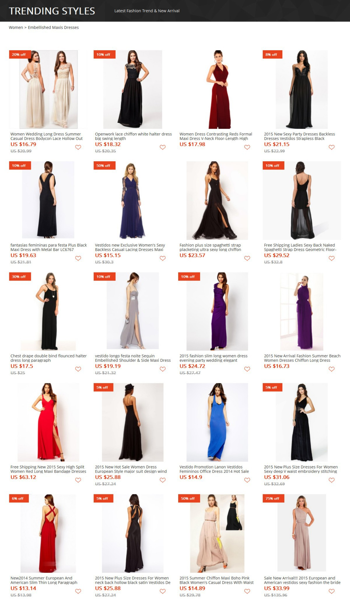 Embellished Maxis Dresses