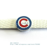 Multiple options! sport team SL346 Internal Dia.8mm slide Charms Jewelry Finding fit 8mm wristband pet collar key chain