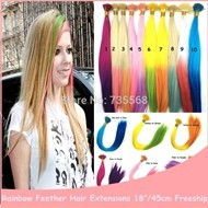 100PCS-18-45cm-Colorful-Rainbow-Feather-Hair-Extensions-Rooster-Feather-For-Hair-Extension-Grizzly-Multicolor-Available