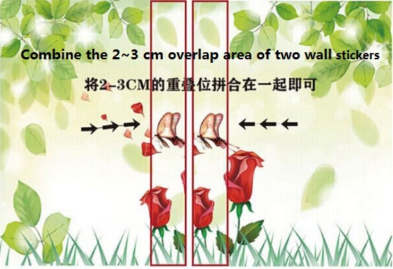 Custom size wall stickers