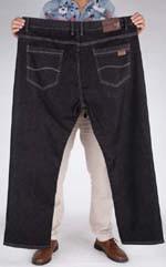 Cotton-Flax-Large-plus-velvet-fat-man-fashion-high-waist-elastic-casual-jeans-fertilizer-to-increase