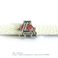 Multiple options! sport team SL332 Internal Dia.8mm slide Charms Jewelry Finding fit 8mm wristband pet collar key chain