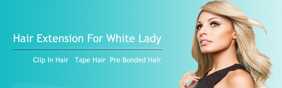 hair extension for white lady
