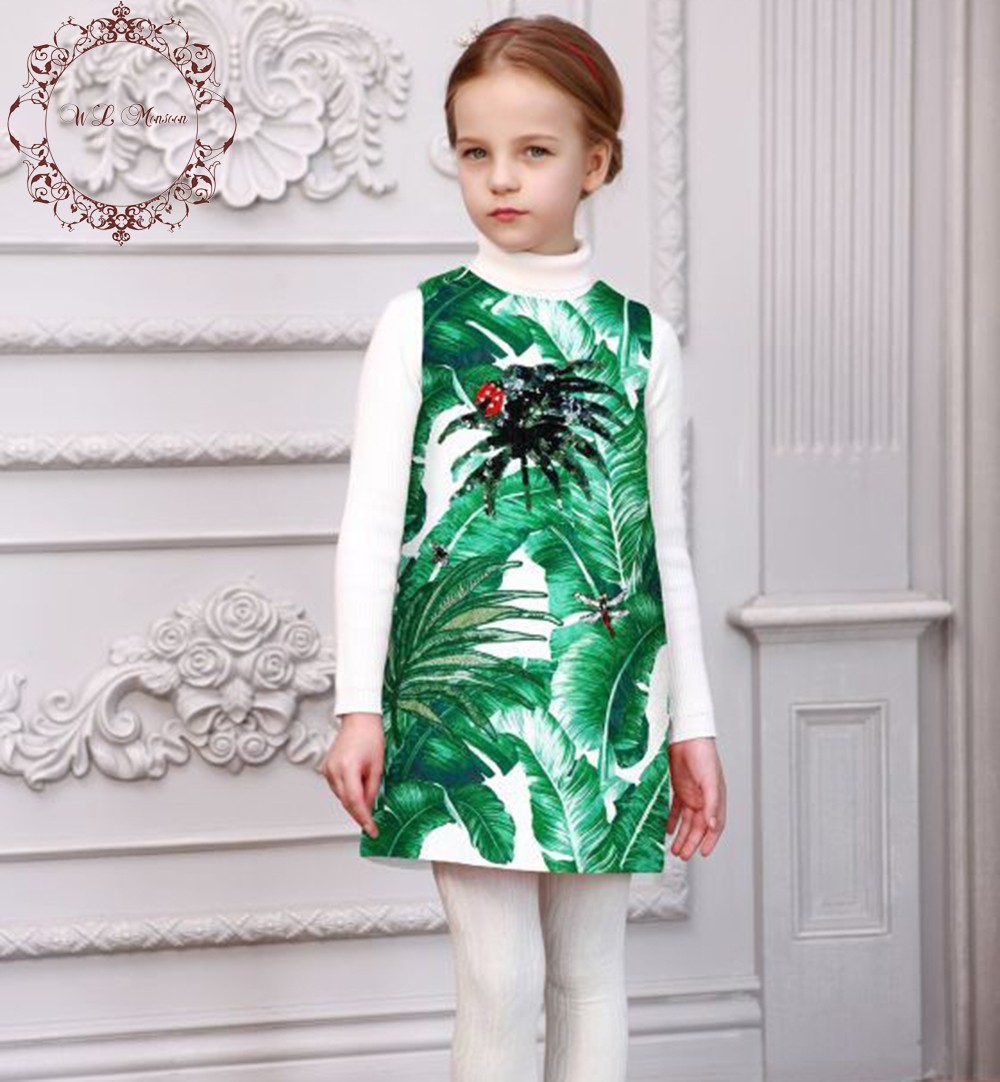 Robe-Fille-Enfant-Girls-Dresses-Kids-Costume-2016-Brand-Girl-Dress-Princess-Tropical-Print-Jewel-Kids