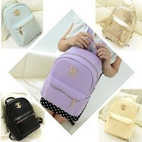 Women Leather Backpack School Bag for Teenagers Girls
