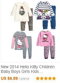 Baby Girls Kids Clothing Clothes Sets suits child 2 pcs sleepwear cartoon long sleeve pajamas_03