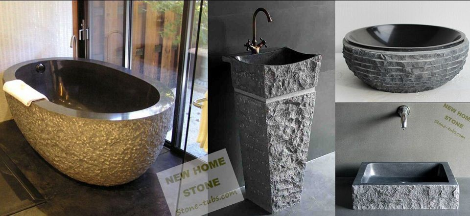 New Home Stone Bath  Small Orders Online Store, Hot Selling and more on Alie # Wasbak Zwart_022734
