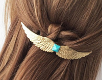 hot fashion vintage gold 7.9*1.3cm retro metal feather big Hairgrips Hair clip for women accessories Jewelry Pinza de pelo