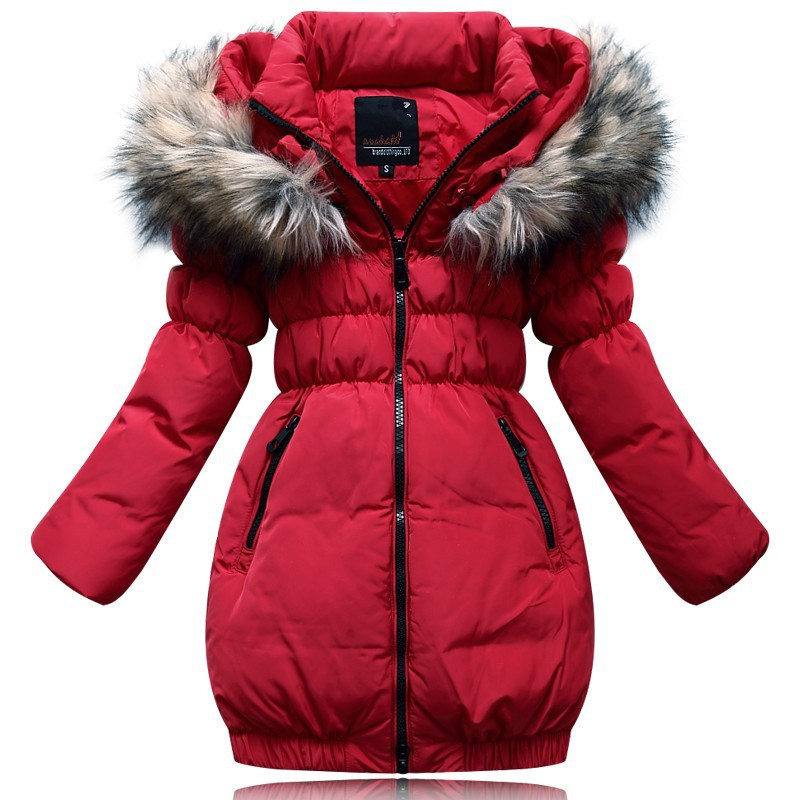 Free-shipping-New-arrival-2014-children-s-clothing-children-s-down-jacket-and-long-sections-girls