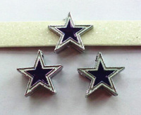 10pcs Football Cowboys Internal Dia.8mm slide Charms can through 8mm Wristband pet collar free shipping SL239-7