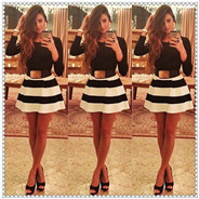 00001_2015-new-fashion-spring-autumn-and-winter-women-dress-black-and-white-striped-mini-dress-without