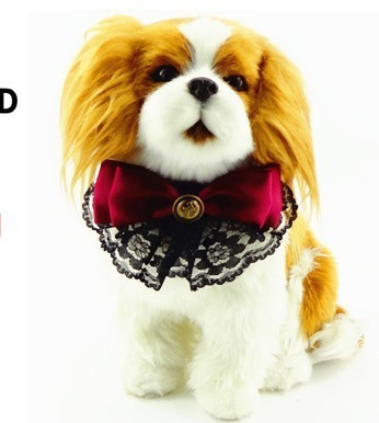 New-arrival-pu-cat-dog-collars-with-lace-bows-puppy-pet-gromming-collar-S-M-chihuahua