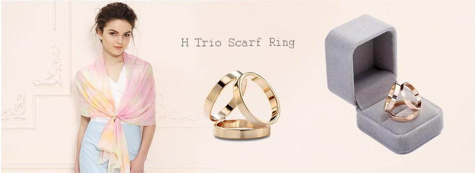 Trio Scarf ring