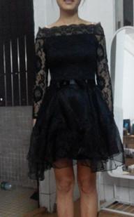 autumn lace dress basic dress