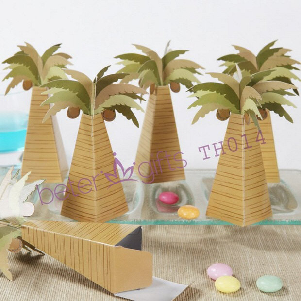 Palm Tree Favor Box Wedding Decoration