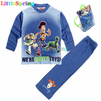 2014 new arrival Children clothing set leisure long sleeve cartoon t-shirt+long pants special package Little Spring GLZ-T0313