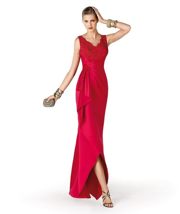 st-patrick-abito-rosso-con-drappeggio