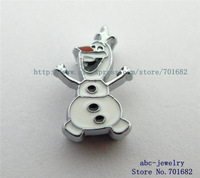Olaf the snowman 10pcs cartoon charactors Internal Dia8mm slide Charms DIY charms can through 8mm Wristband