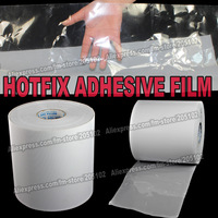 Hot fix paper & tape 6M length/Lot ,24CM wide adhesive iron on heat transfer film super quality for HotFix rhinestones DIY tools