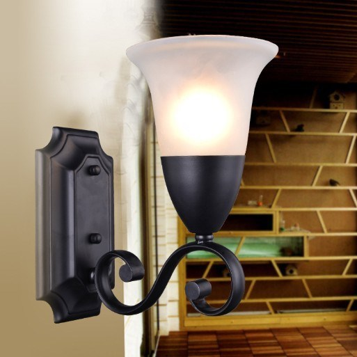Europe Style fashion Single-head wall lights indoor For Living Room Loft Light Bedroom fashion Wall lights fixture